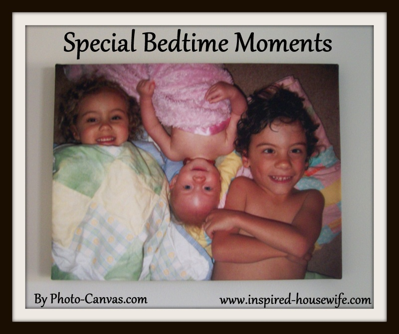 Inspired-Housewife: Special Bedtime Moments Caught on Film, Love of a Mother, Love of my Children, Photo-Canvas Review