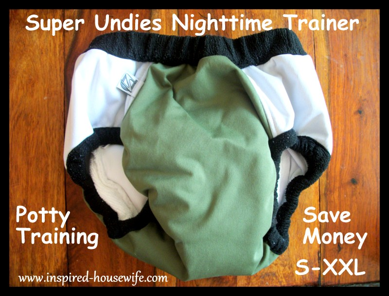 Inspired-Housewife: Super Undies Nighttime Potty Training Pants Diaper Trainer Review and Giveaway - Washable - Cheaper than pull ups