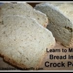 Five Crock Pots, Five Gluten Free Breads, and a Recipe
