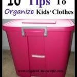 10 Steps to Organize Your Child's Clothes, Shoes, and Outerwear