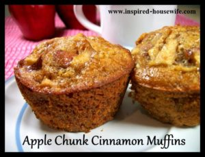 Apple Chunk Cinnamon Muffins