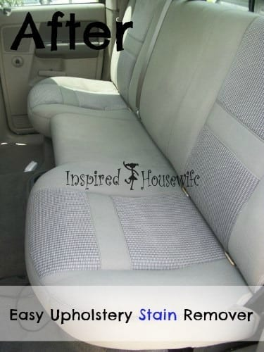 Easy Car Upholstery Stain Remover